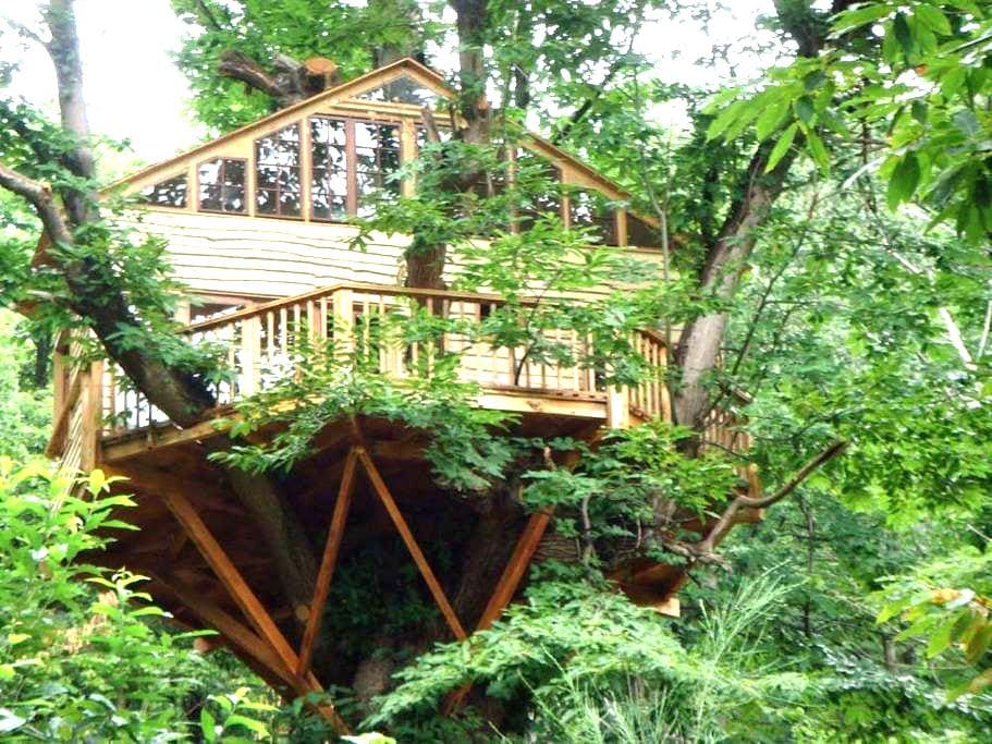 Treehouse, fully equipped  - Saint-Laurent-de-Cerdans