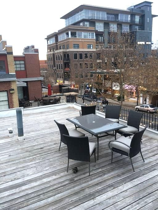 1BR Dickson St Apt w/ Roof Deck - Fayetteville - Apartment
