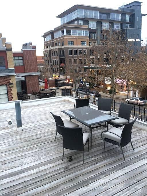 1BR Dickson St Apt w/ Roof Deck - Fayetteville - Wohnung