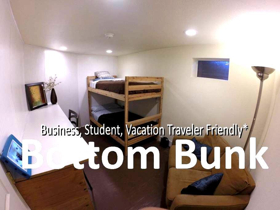 The Traveler's Hub: Cozy Escape/BOTTOM BUNK - Portland - House