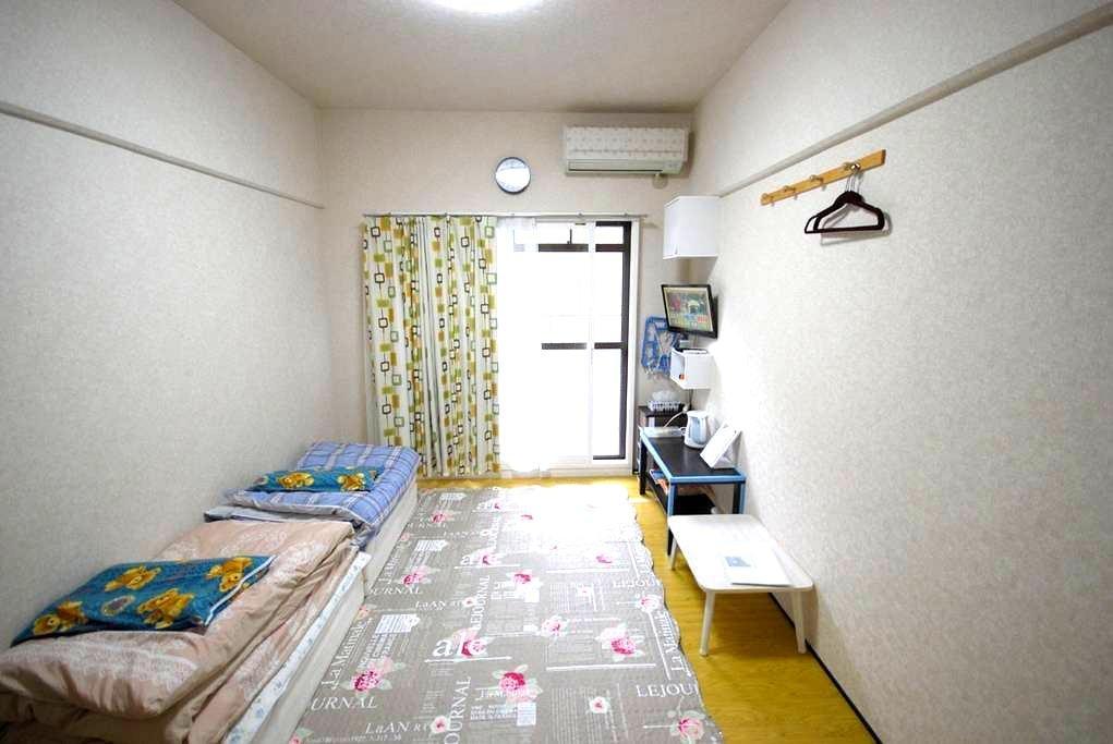 지하철역에서 230미터 17㎡!현지인의 원룸! - Higashi Ward, Fukuoka - Appartamento