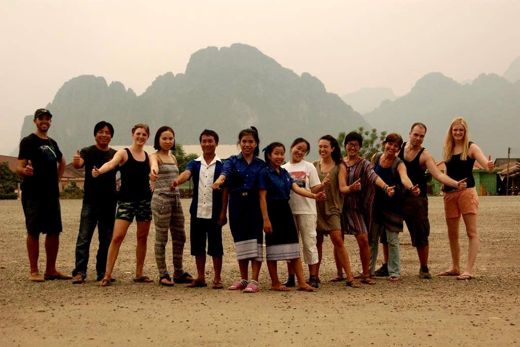 Homestay with non-profit organisation (single 1) - Vang Vieng - Ev