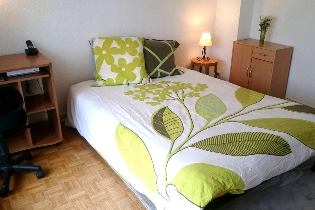 Belle chambre privée avec balcon près de Genève - Gaillard - Apartamento