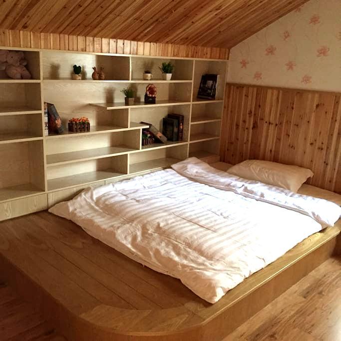 独立楼层双床榻榻米家庭房小木屋 - Jiaxing - Cabana