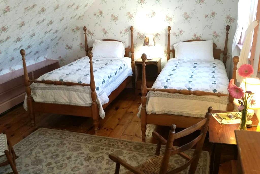 Hawks House Inn Room 10, 2 twin beds, sleeps 3 - Walpole - Bed & Breakfast