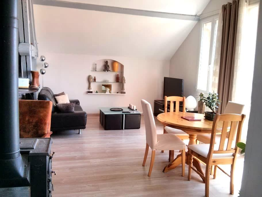 Loft calme 70m² et terrasse fleurie - Perpignan - Appartement