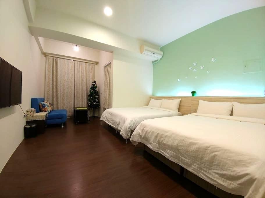 綠映 - 羅東夜市附近溫馨四人房套房,適合2~5人 入住 - Luodong Township - Apartamento