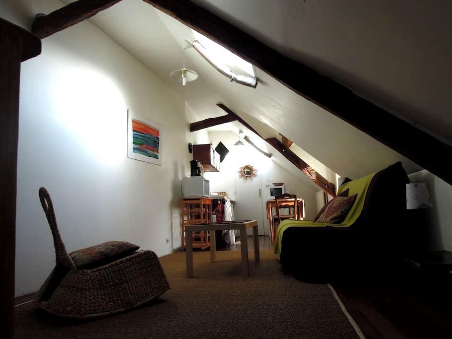 studio mansardé rue pietonne centre port - Le Croisic