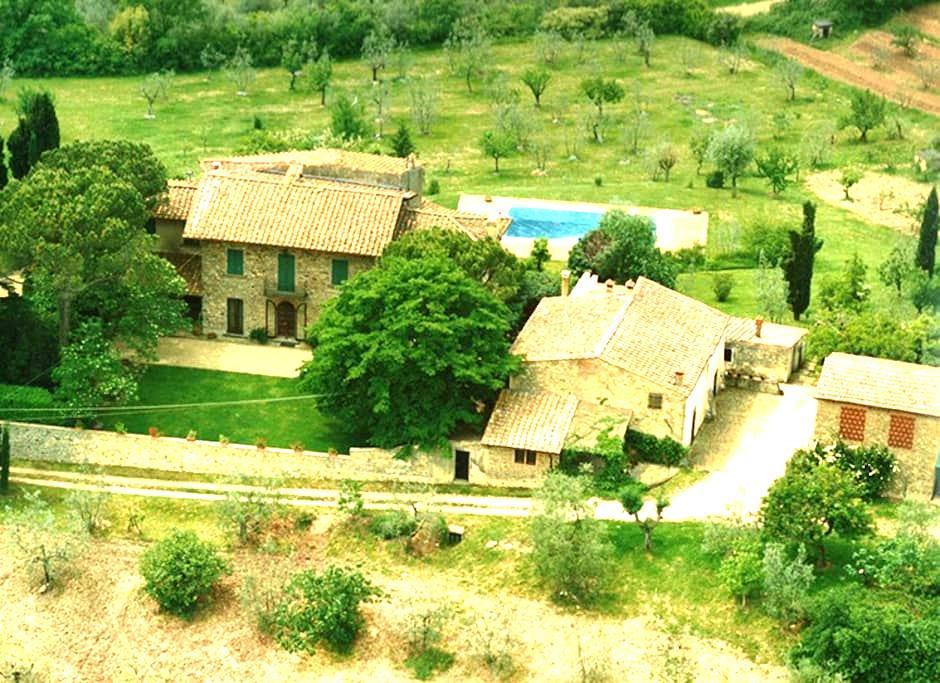 Bauernhaus mit Blick über Florenz - Firenze - Talo