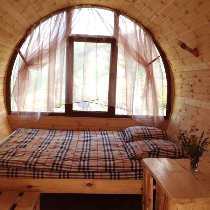 Double Room Wooden Barrel House - Halidzor - ที่พักพร้อมอาหารเช้า