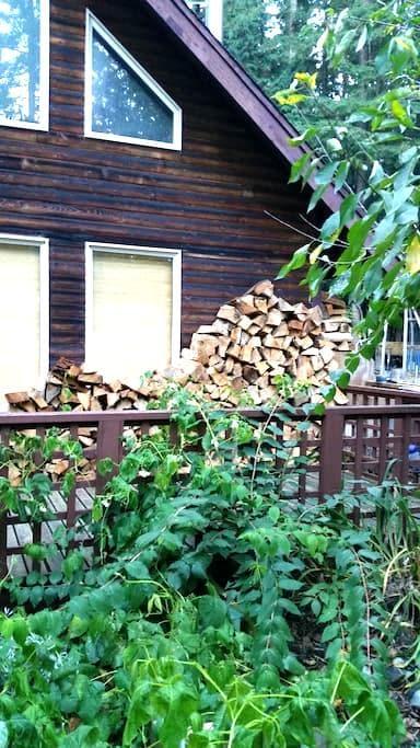 Ski cabin bed and breakfast - Maple Falls - Natuur/eco-lodge