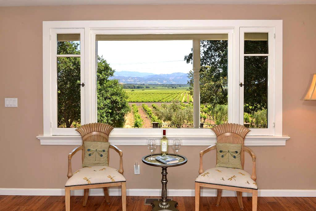 Trentadue Estate View-Vineyard View - Geyserville
