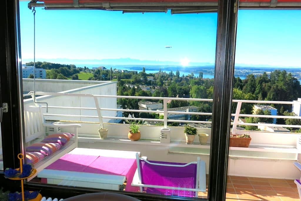 Genialer Panorama-Blick vom obersten Stock - WLAN - Überlingen - Wohnung