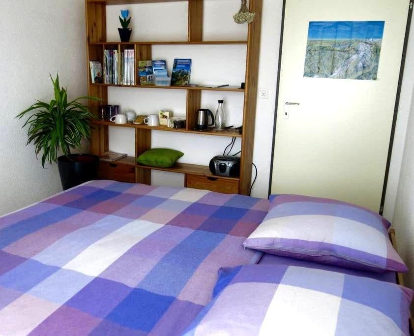 Zimmer mit 2 Betten, separates Badzimmer - Spiez