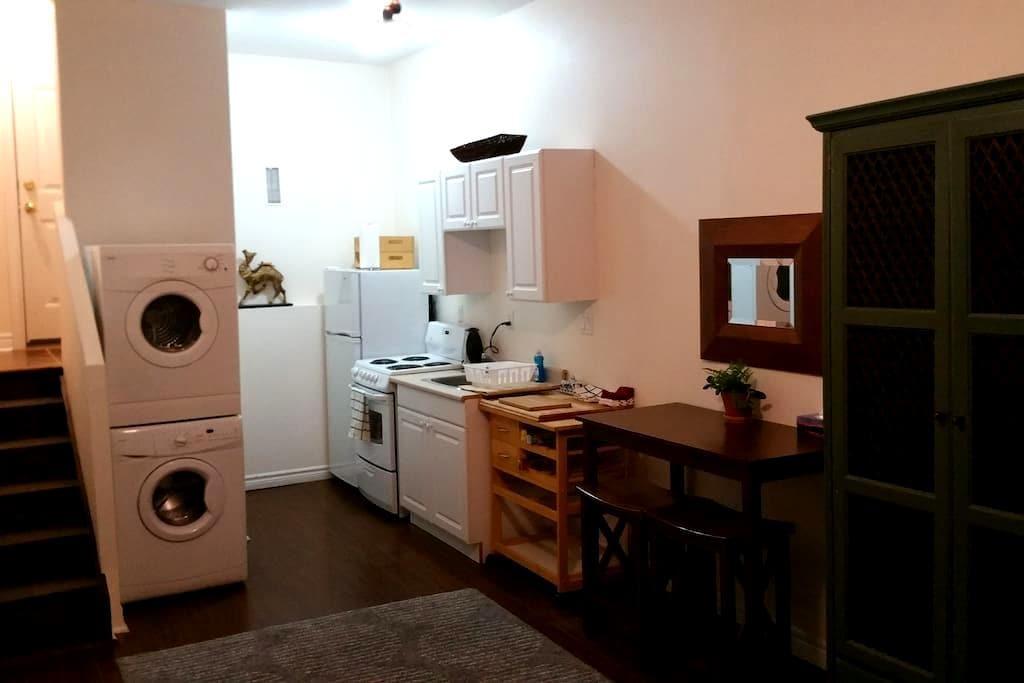 Spacious Studio w/ Queen Bed, Kitchen & Laundry. - Toronto