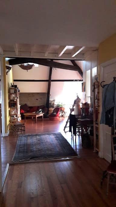 Chambre dans bel appartement F4 vue sur Pyrénées - Laloubère - Appartement