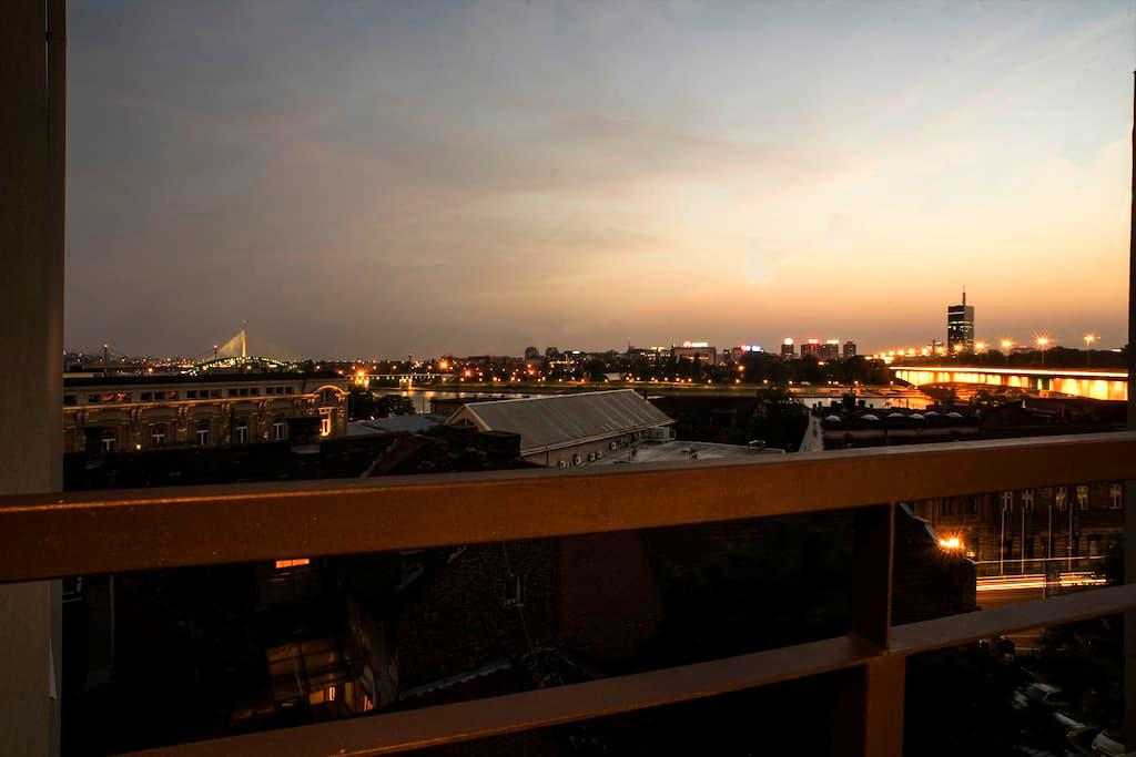 Beautiful view of bridges, Savamala Apartment 14a - Beograd - Apartment