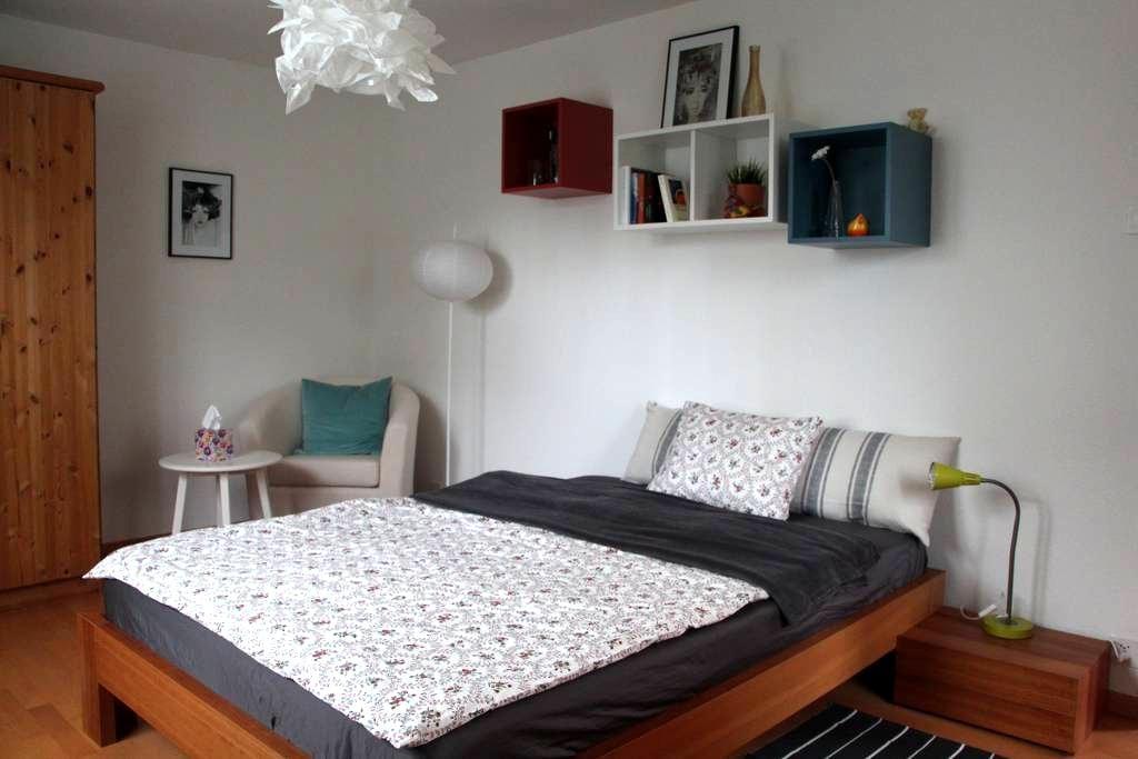 Originelles 1.5 Zimmer-Studio mit Gartensitzplatz - Möhlin - Apartamento