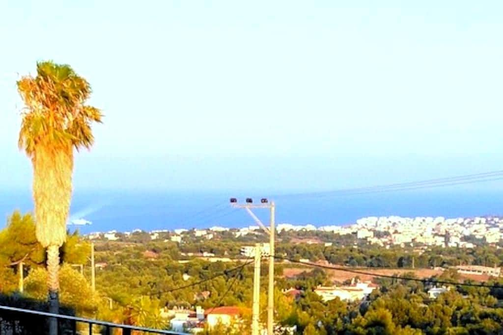Artistic garden house with amazing sea view - Rafina - Hus