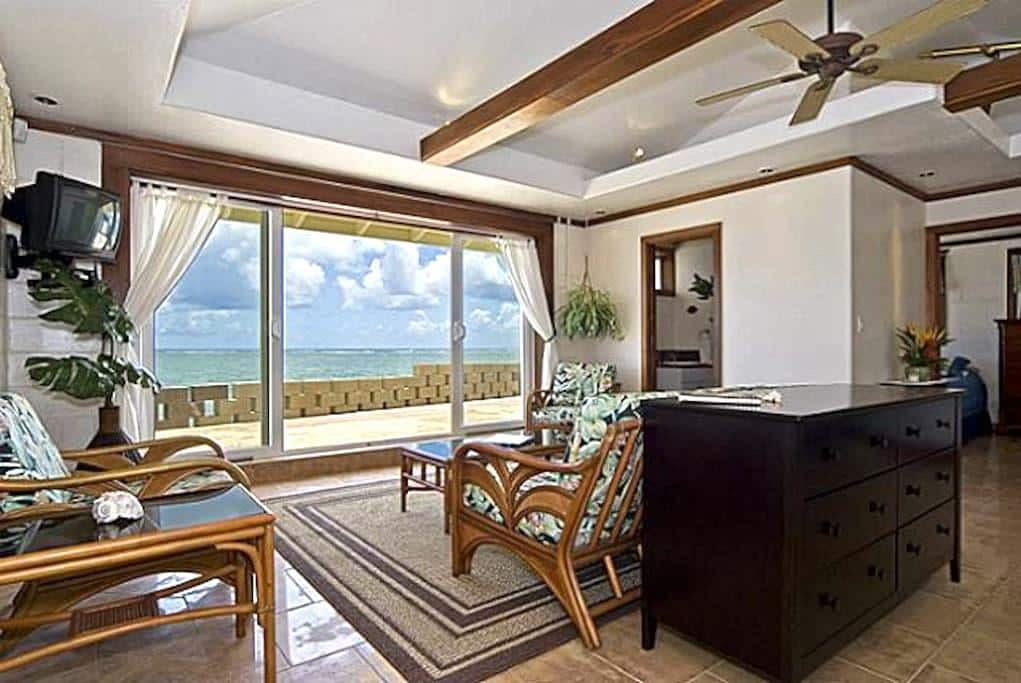 Private Waterfront House with Quiet Ac and Wifi - Hauula
