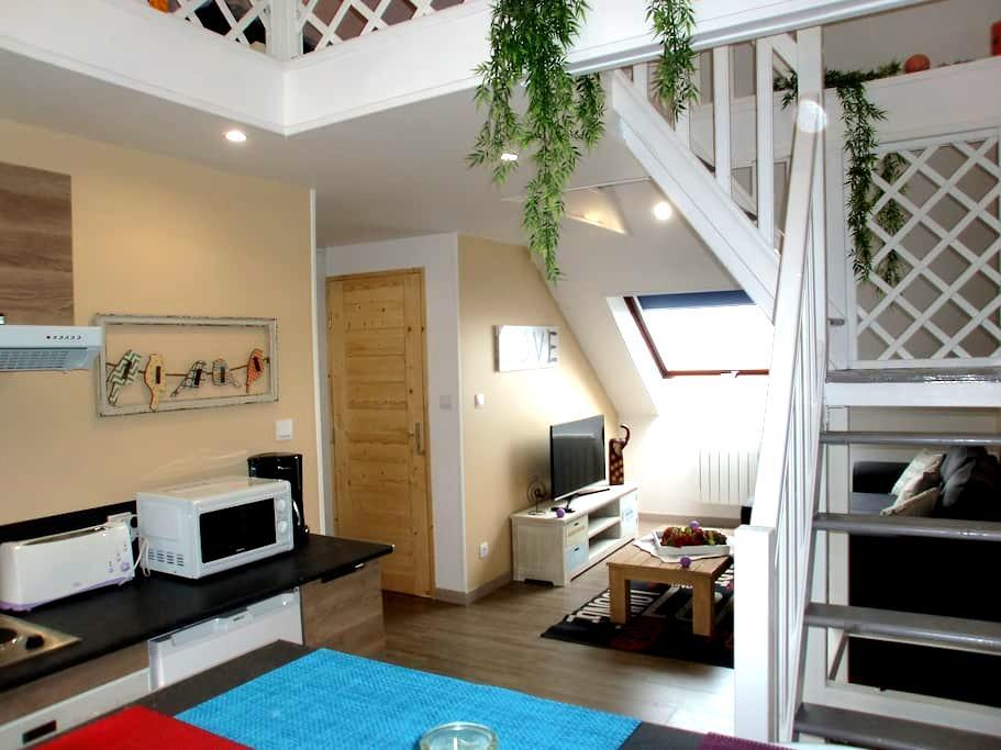 Paisible studio avec superbe vue - Fécamp - Wohnung