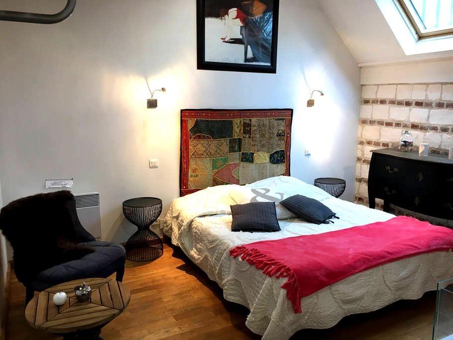 Cozy room & jacuzzi/sauna 12 km from Crotoy - Bernay-en-Ponthieu