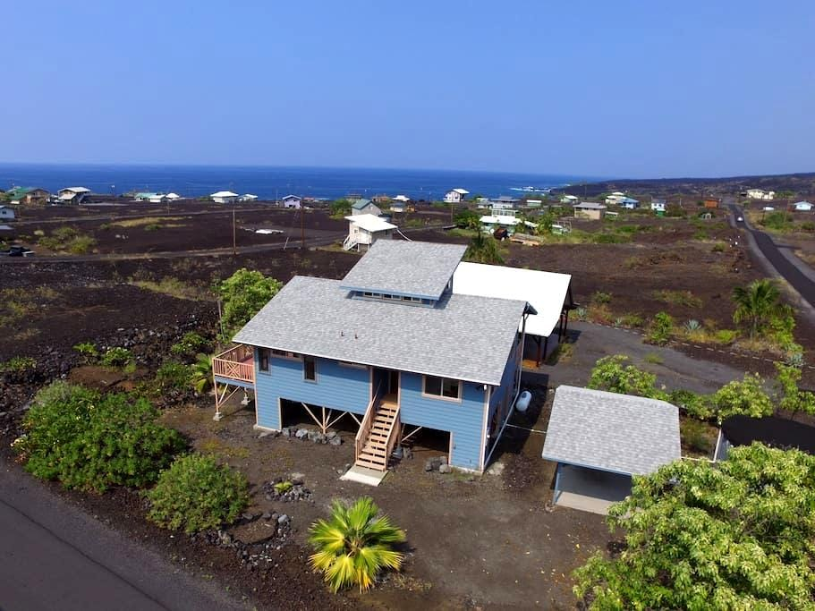 Newly Updated Milolii Beach Home With Ocean Views - Captain Cook - Hus