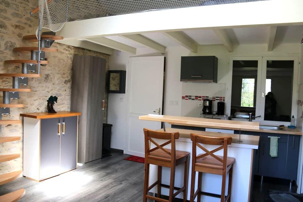 Studio dans une grange rénovée - Reignac - Huis