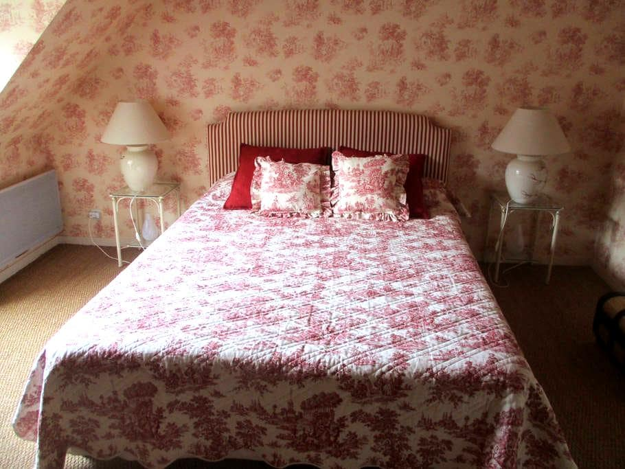 Chambre Ronsard, double - cadre agréable - Semblançay - Bed & Breakfast
