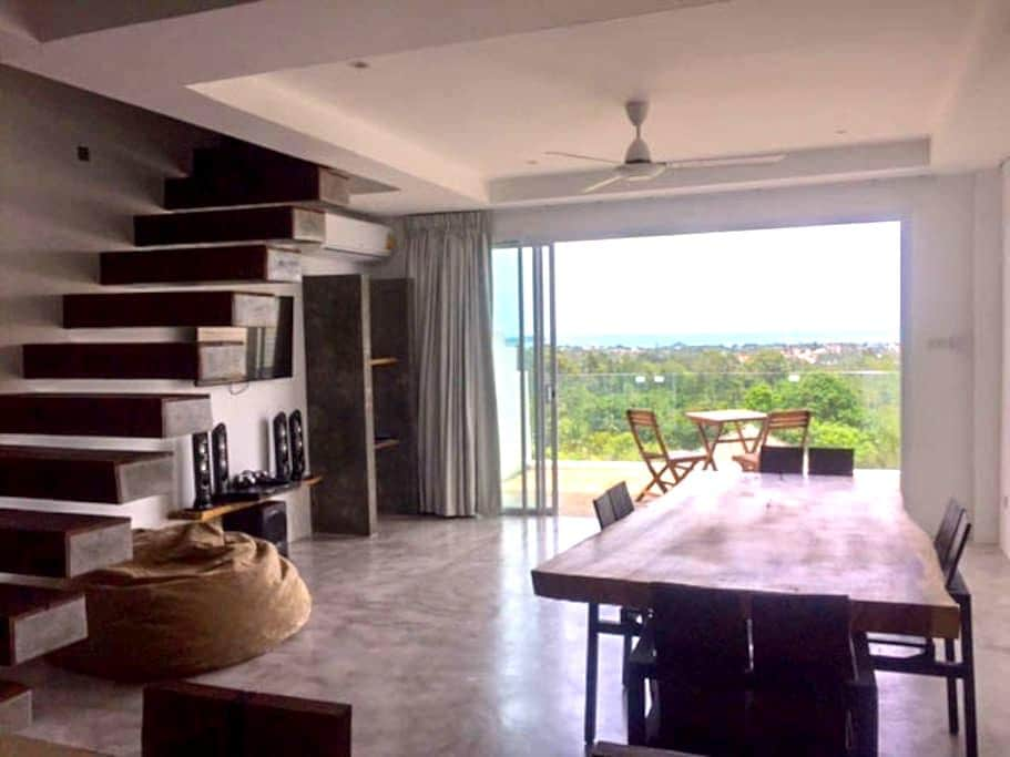 SEA VIEW DUPLEX + POOL + WiFi - Ko Samui