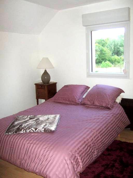Chambre dans maison agréable en lisière de forêt - Le Poinçonnet - Casa