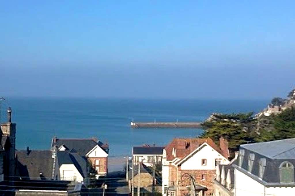 Studio vue mer panoramique 150m mer - Pléneuf-Val-André - Apartamento