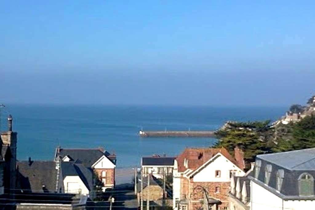 Studio vue mer panoramique 150m mer - Pléneuf-Val-André - Apartment