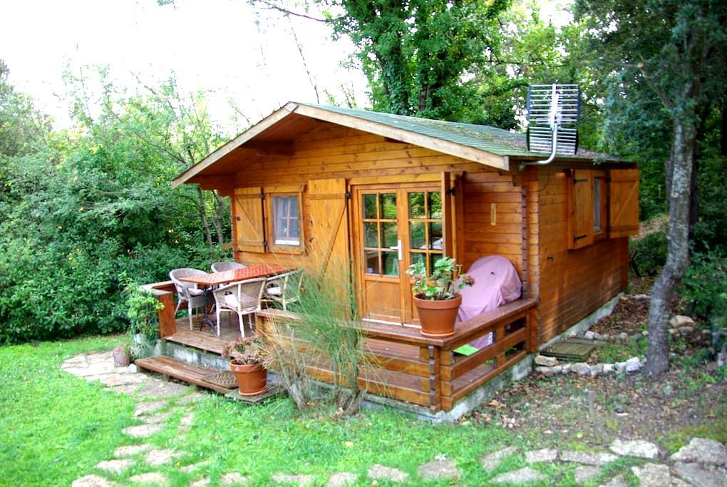 Chalet bois indépendant avec jardin - Montauroux