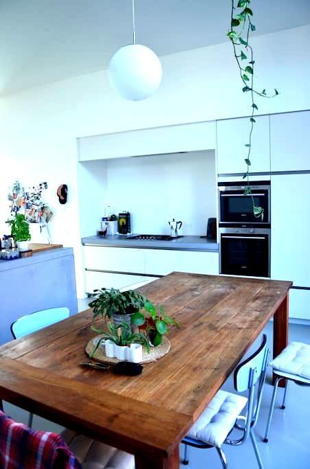 Modern woonhuis stadstuin Antwerpen Kiel + Fietsen - Antwerpen - Haus
