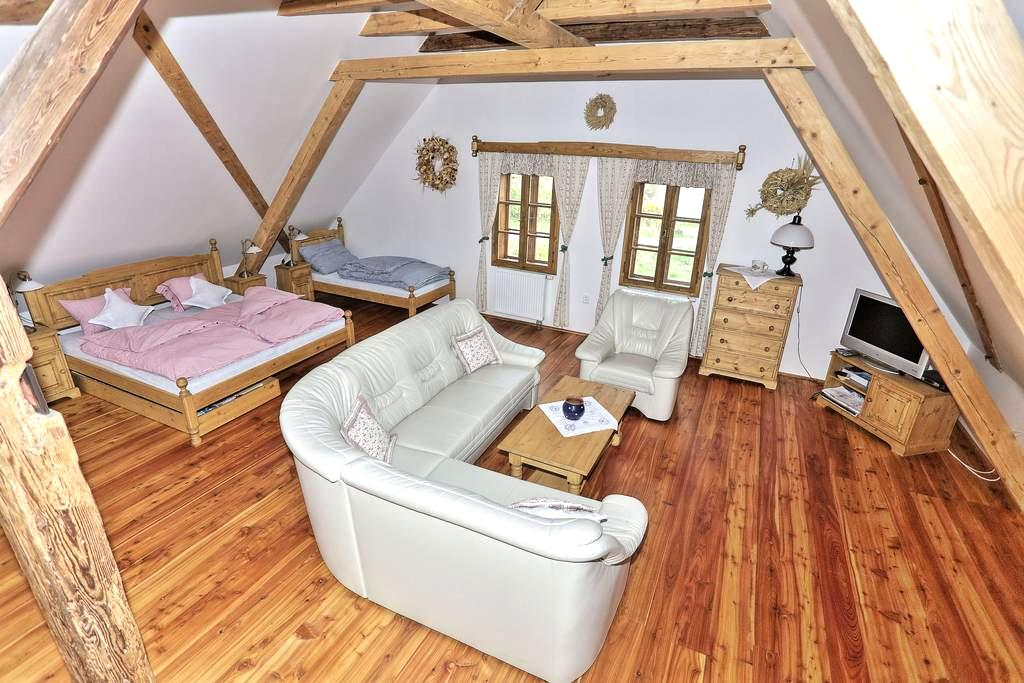 Exclusive Water Mill Near Prague - Mnichovice - Çatı Katı