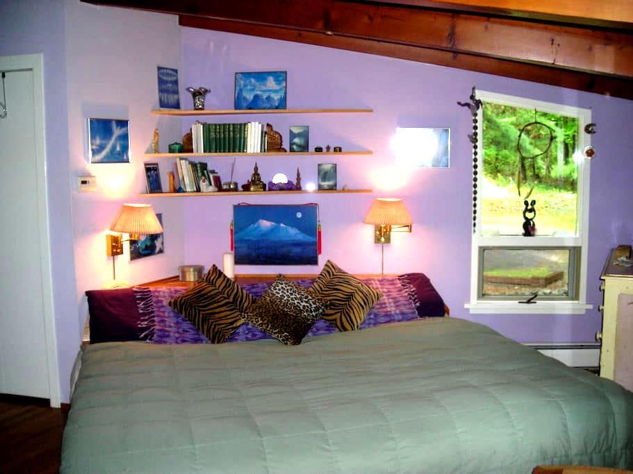 Quiet and cozy bedroom with deck - East Chatham - Dům