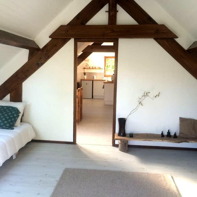 Spacieux et chaleureux T2 au 1er étage d'un gîte - Branville - Apartment