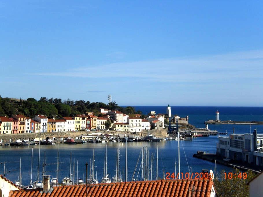 Vue panoramique , face à la mer - Port-Vendres - Apartment