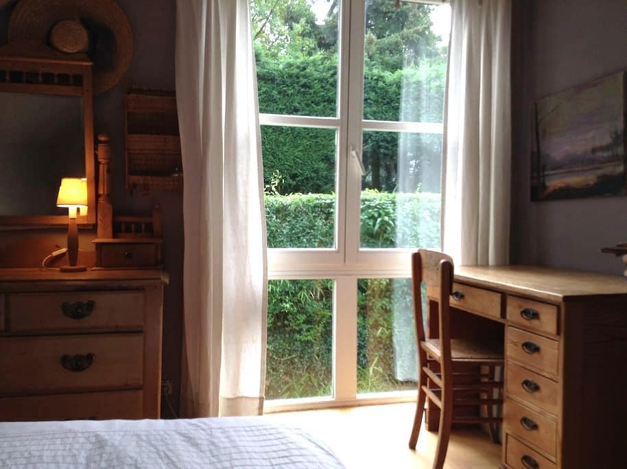 Chambre tranquille avec SdB privée - Chaumont-Gistoux - บ้าน