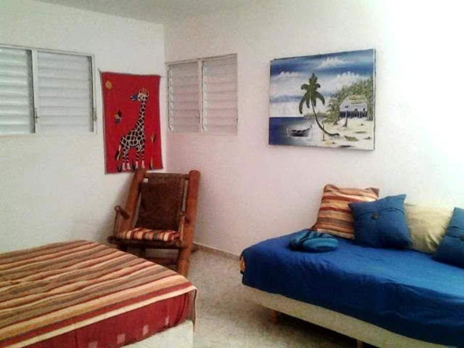 Chb. tropicale confortable, vue mer - Cabrera - Villa