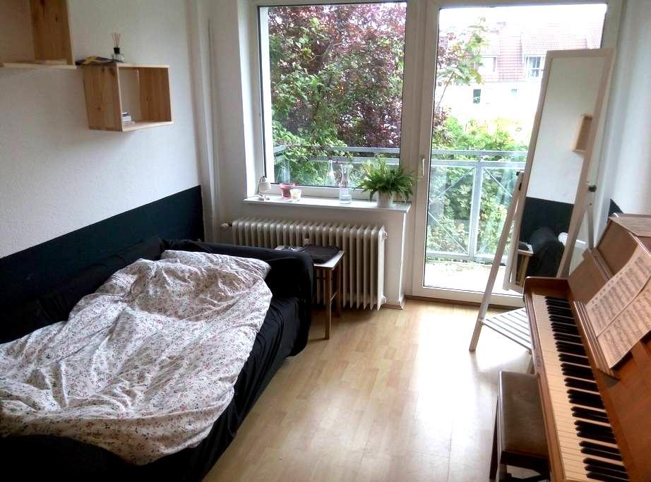 Cosy single room close to railwayst. (+balcony!) - Hamburg - Pis