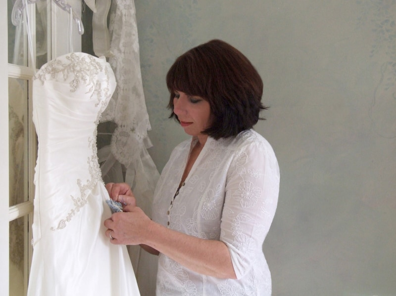 I own a bridal alterations business, working out o