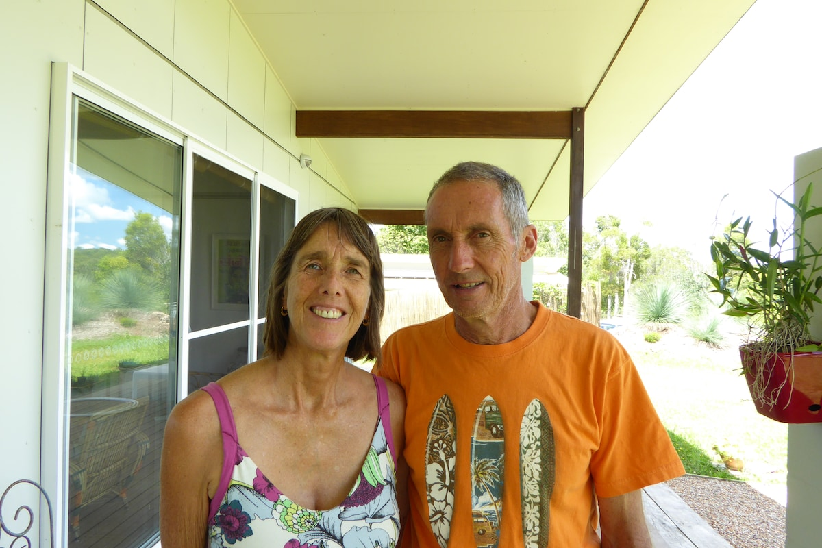 Semi-retired couple living at Myocum, NSW.