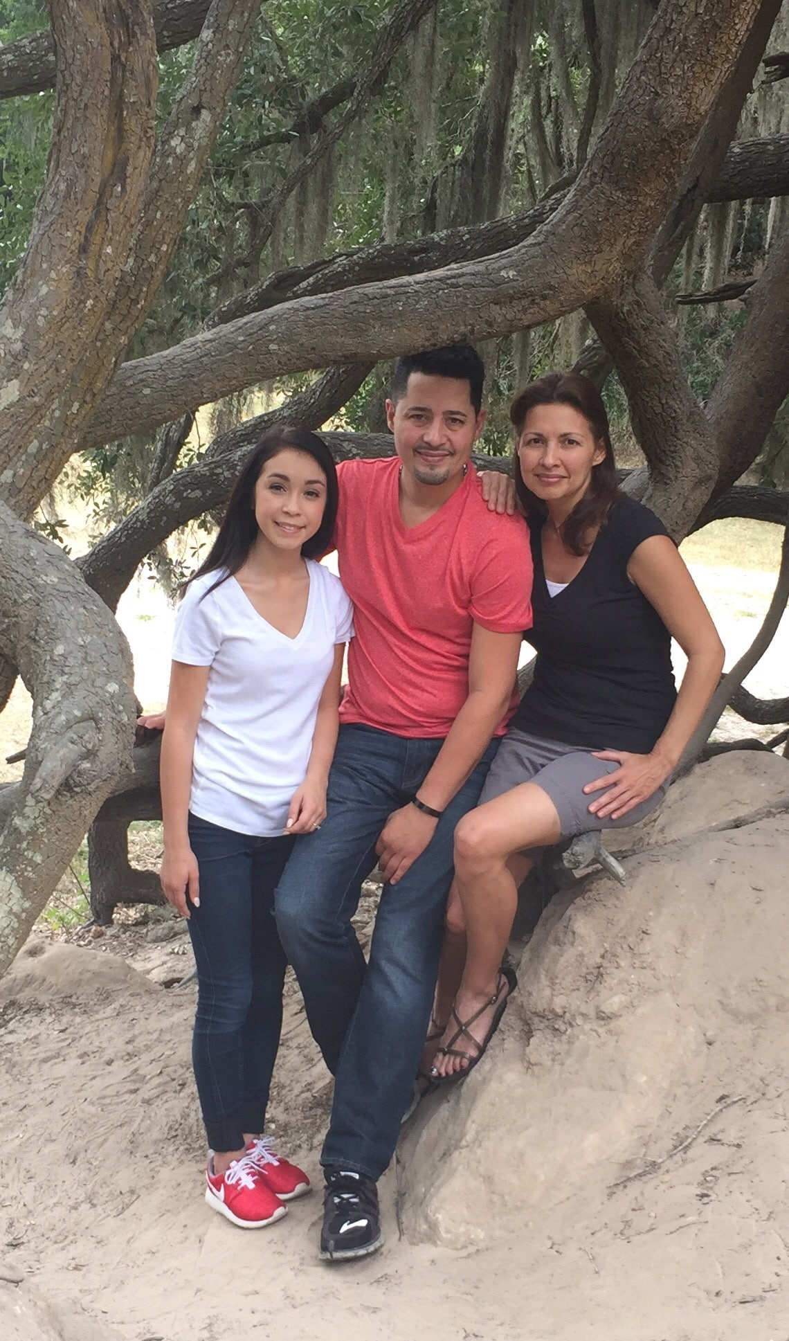 Adam, Cathy & Kat (Niece) Garcia
