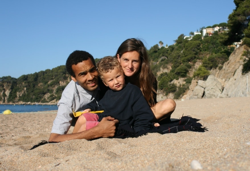 We are a young English family living in Barcelona