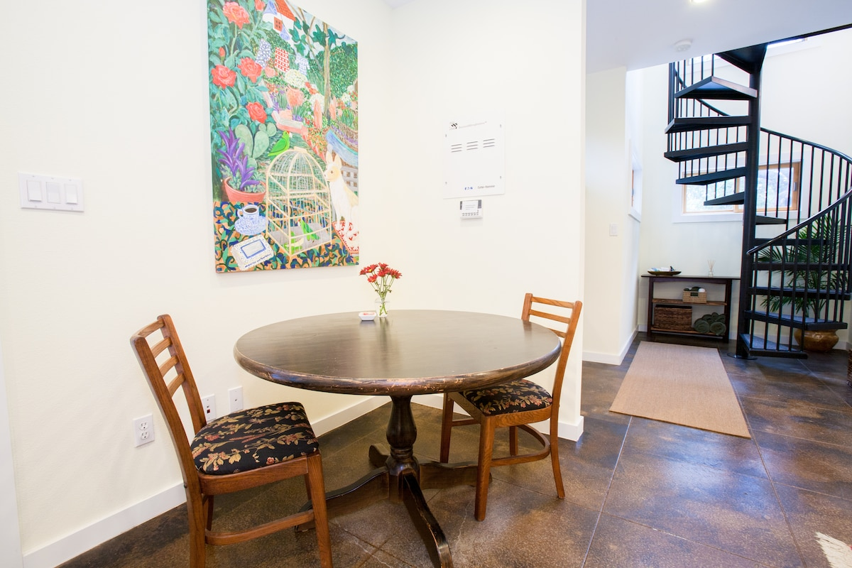 Downstairs dining area