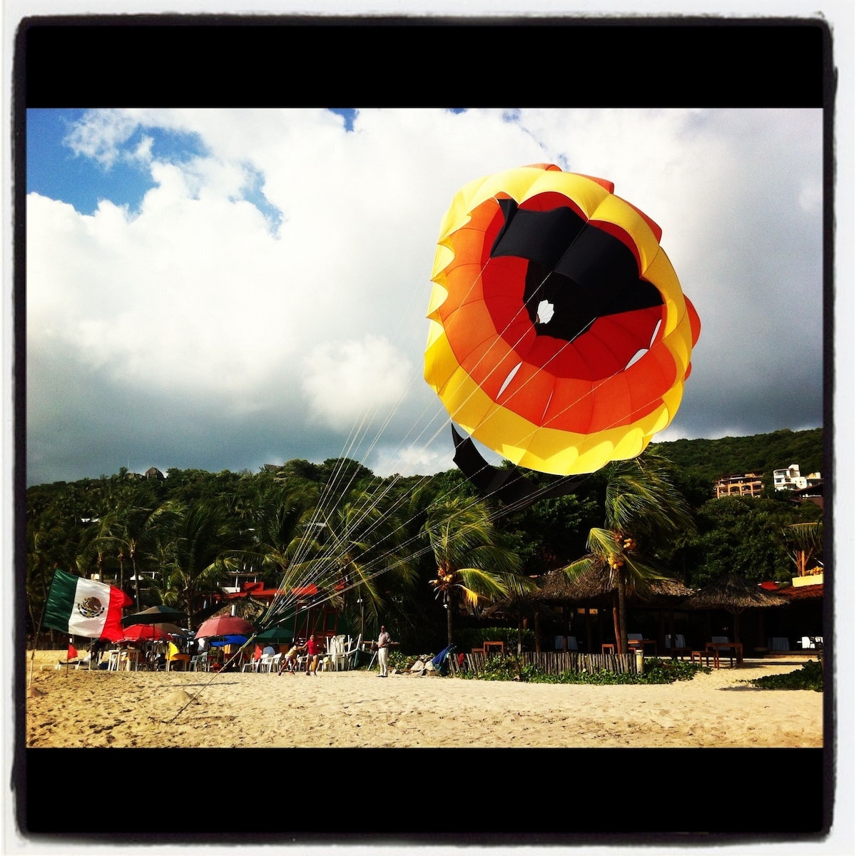 Parasailing from La Ropa beach !