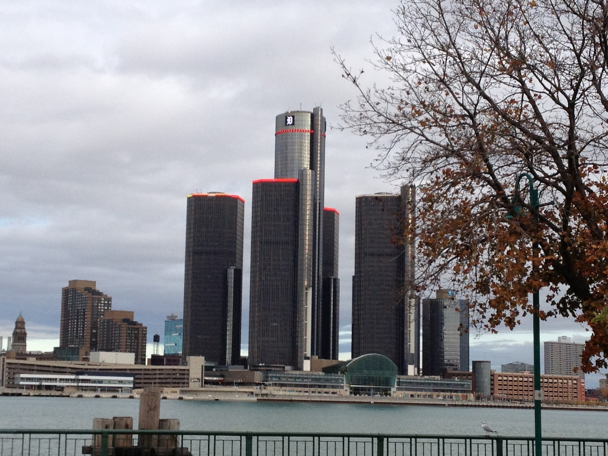 Spectacular View of Detroit Skyline