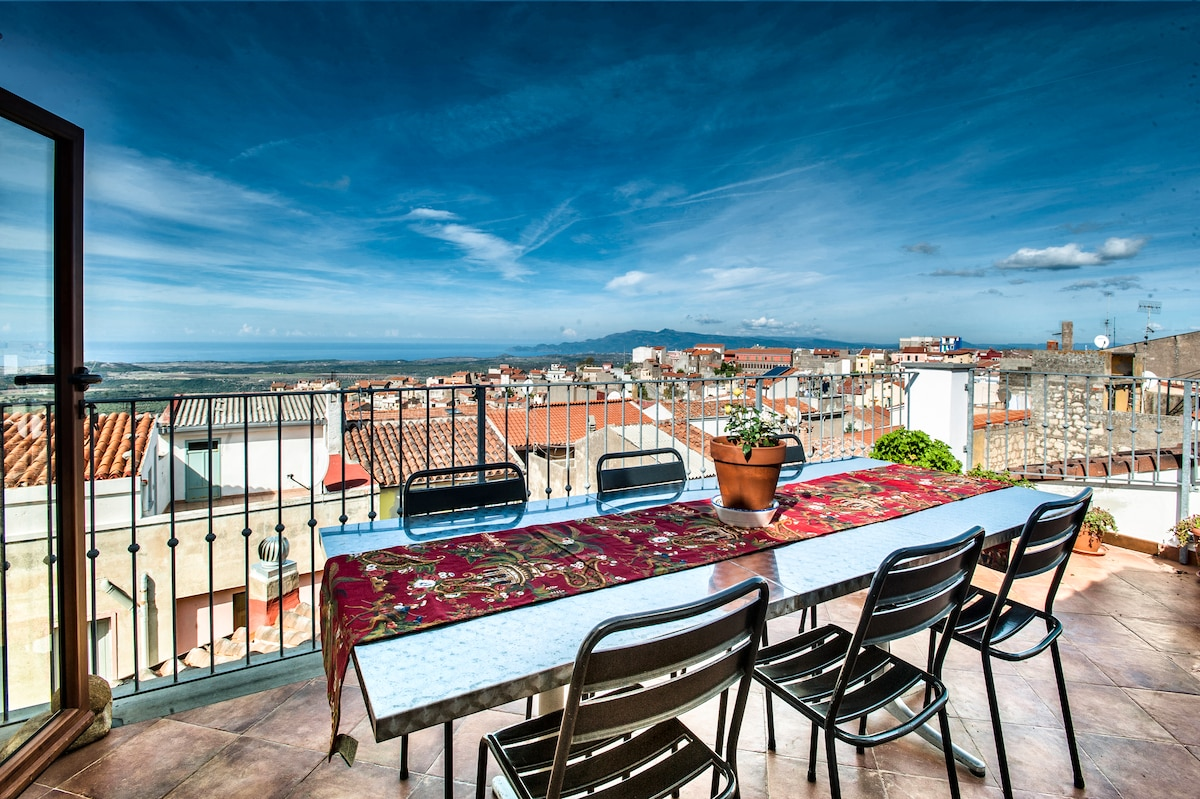 Your view from the terrace, where you will enjoy the summer evenings and have dinner with friends !